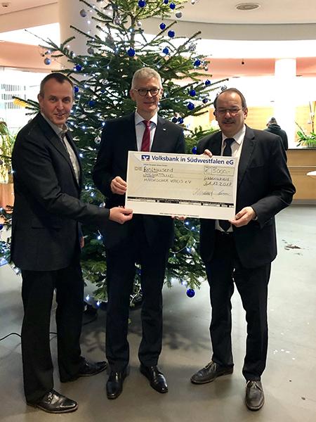Weihnachsspende an Heimatbund MK - Volksbank in Südwestfalen eG